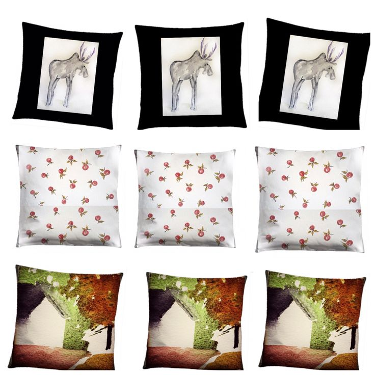 Cushions with my own textile design. Printed at Elobina, Lomma, Sweden
