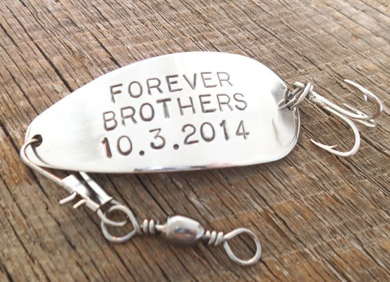 Best Brothers Forever Brother of the Groom Gift Bride's Brother In Law Fishing Lure Personalized Brother's Birthday Big Little Sports Men
