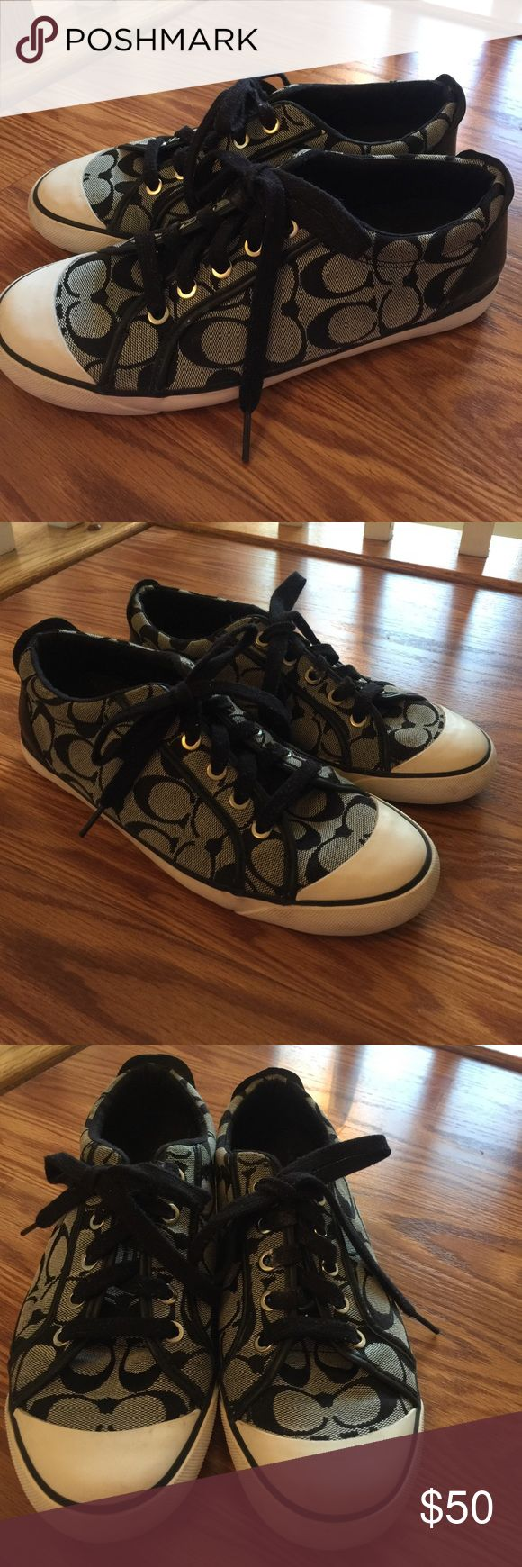 COACH SNEAKERS! SZ 9 COACH SNEAKERS in great condition! Hardly worn! SZ 9! Minor marks ..please see pictures! Coach Shoes Sneakers