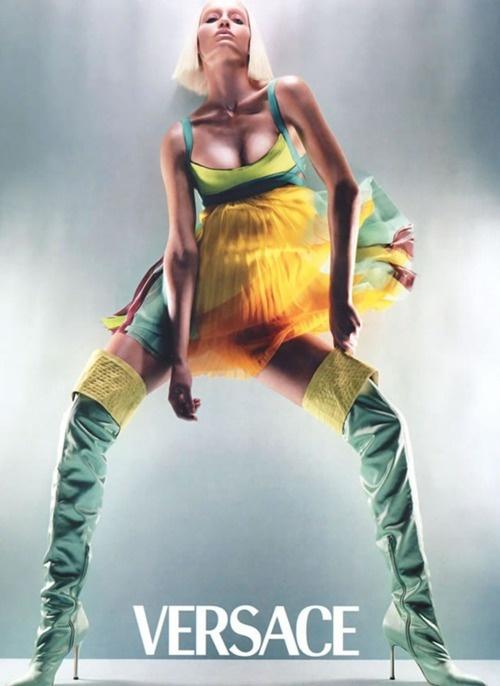 Amber Valletta by Steven Meisel for Versace S/S 03