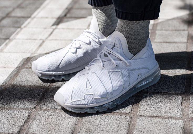 new products a44d8 ffde6 Chaussure Nike Air Max Flair Blanche White Platinum