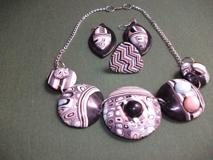 conjunto de grgantilla, pendientes y anillo de ARTESANIAALMA en Etsy