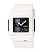 THE SUPPLY SHOPPE - Product - CW058 BABY G WHITE AND BLACK ANALOG DIGITAL (BGA-200-7E2DR)