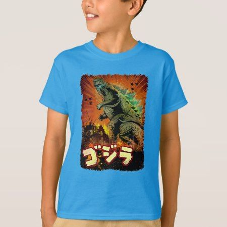 Retro Inspired Godzilla Poster T-Shirt - click to get yours right now!