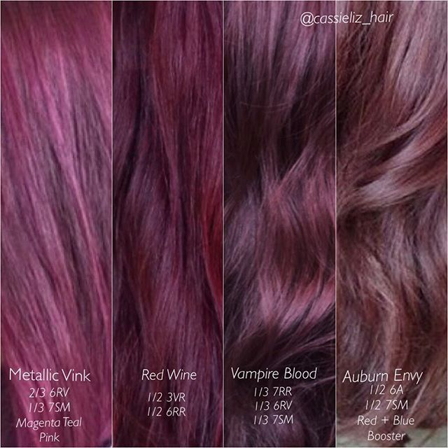 1000 Ideas About Red Violet Hair On Pinterest  Violet