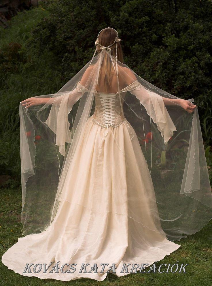 Medieval Renaissance Style Alternative Corset Wedding Gown - Genevieve. $1,150.00, via Etsy.