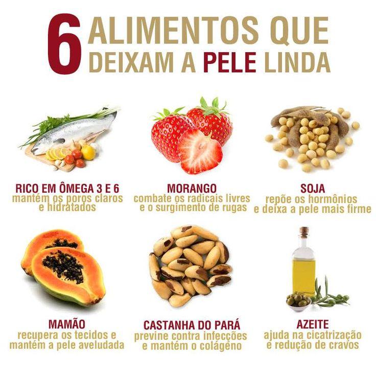 6 Alimentos que deixam a PELE Linda
