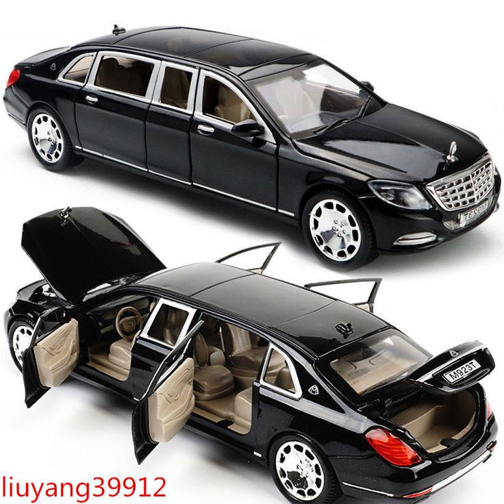 1:24 Mercedes Maybach S600 Limousine Diecast Metal Model Car New in Box Black #Unbranded