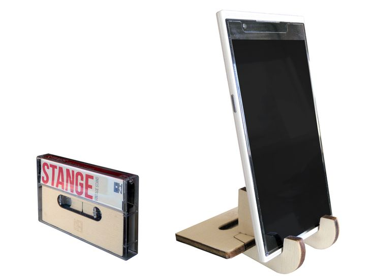 Stange, stand a forma di musicassetta di LOHN_Little Objects for Huge Needs su DaWanda.com