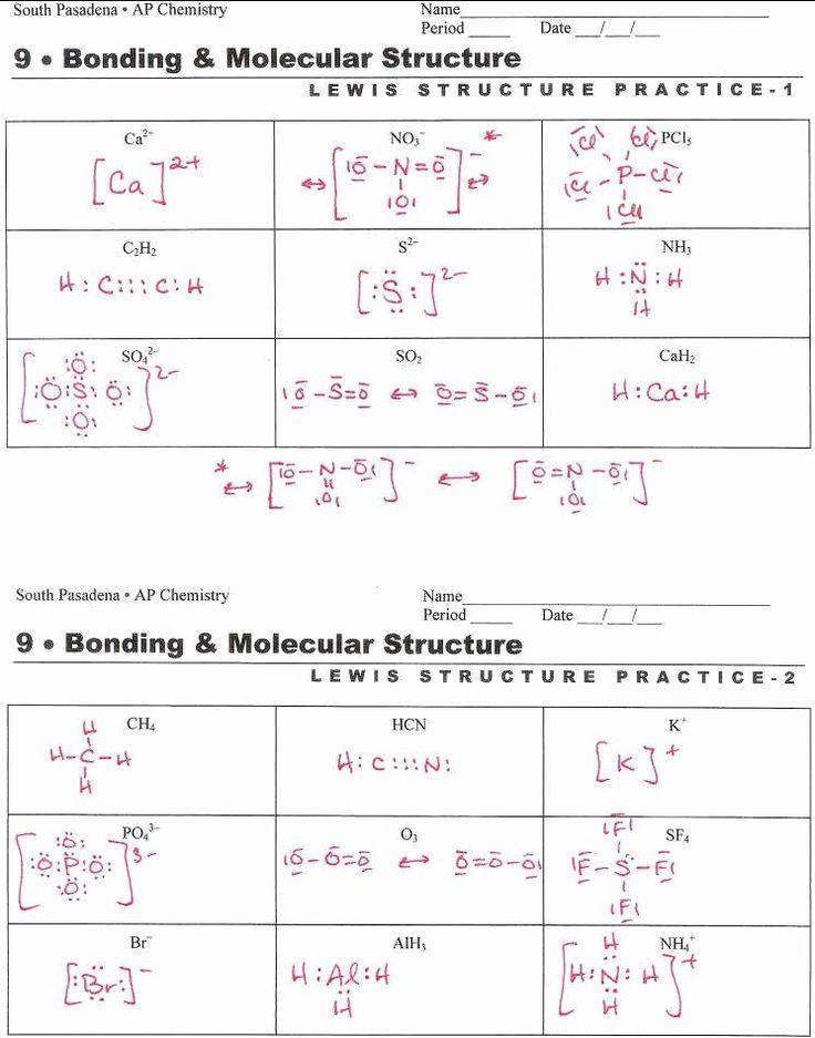 Lewis Dot Structure Practice Worksheet Elegant Vsepr