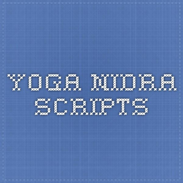 Yoga Nidra Scripts                                                                                                                                                     More