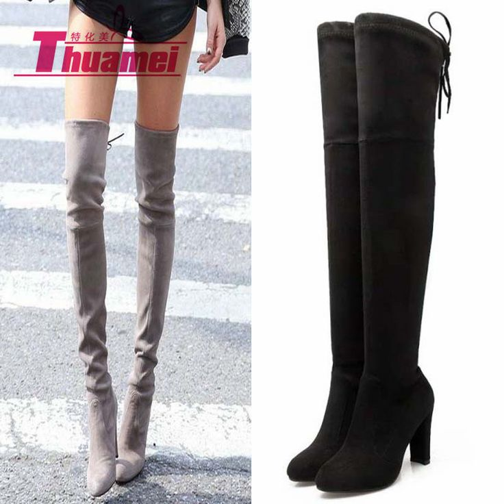 Slim Boots Sexy over the knee high Suede women snow boots women's fashion winter thigh high boots shoes woman #Y1159863F