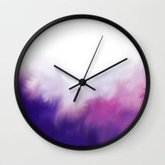 Magenta Vibes Wall Clock - Abstract Purple Wall Clock, Modern Pink Clock, Home Decor, Minimalist Clock, Modern Hanging Clock, Living Room Decor, Bed Room Decor