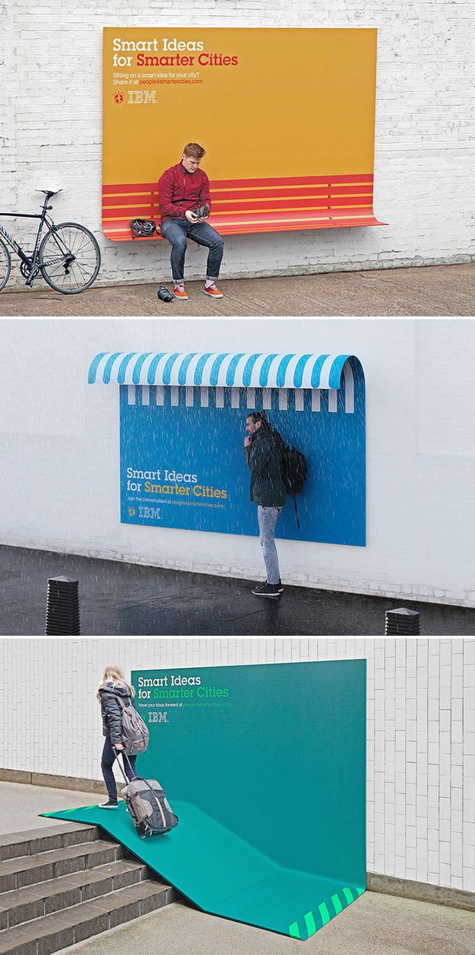 50 Brilliant Outdoor Ads - IBM - Smart ideas for smart cities