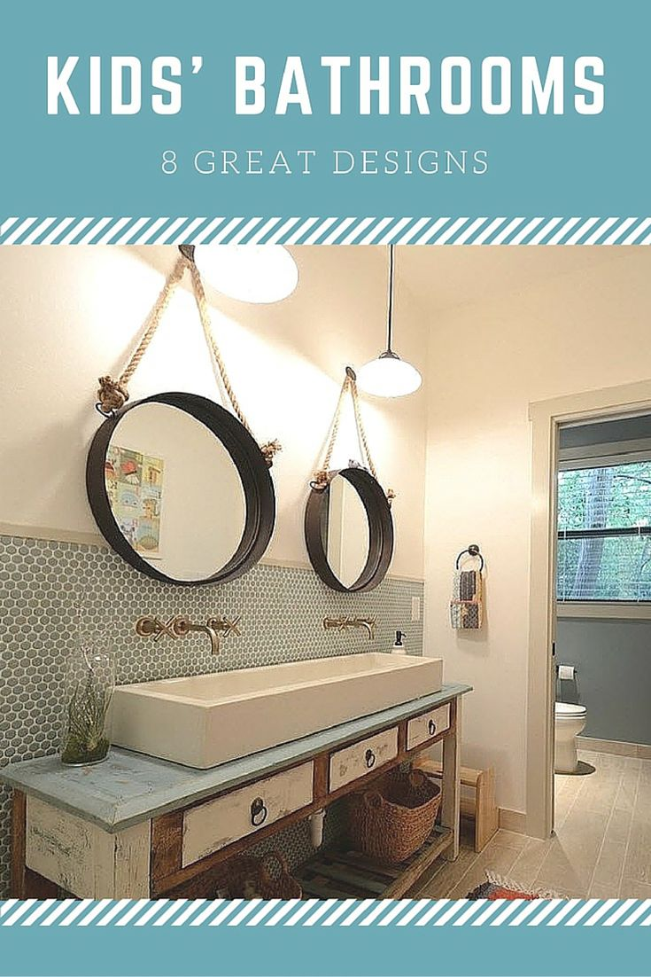 These fresh design ideas will help you put together a kids' bathroom that is both functional and fun.