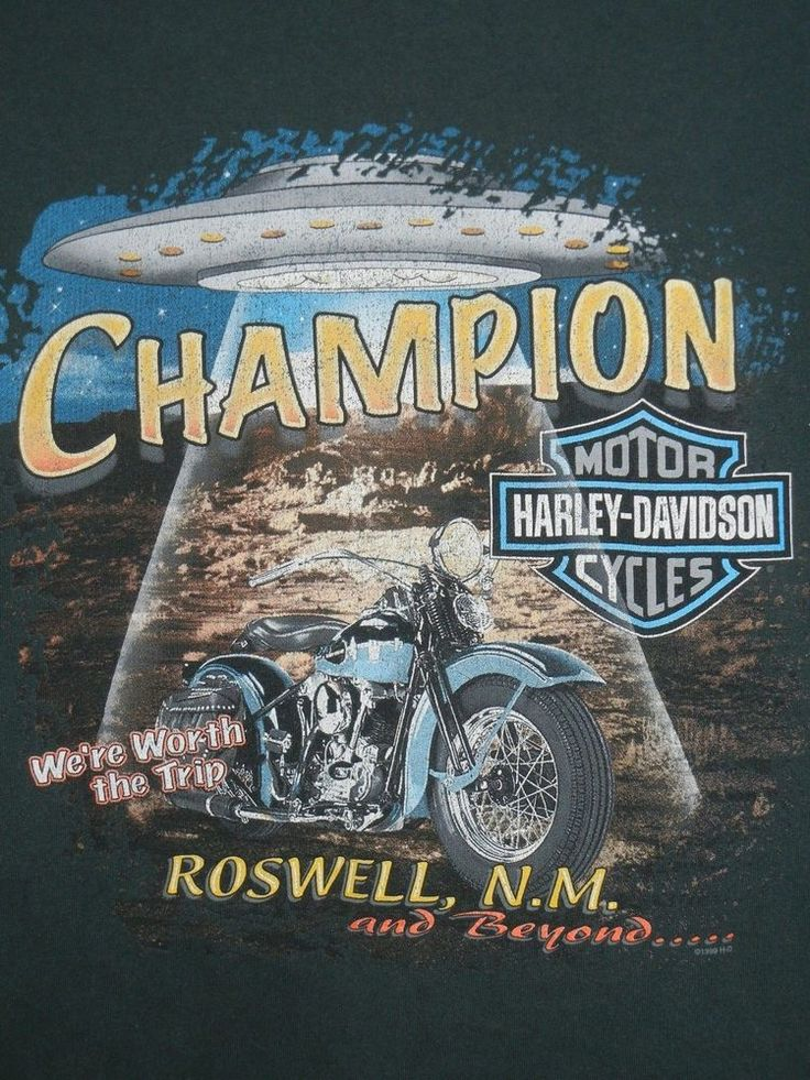 Harley Davidson T-Shirt UFO Roswell New Mexico Vintage 90s XXL USA #HarleyDavidson #GraphicTee