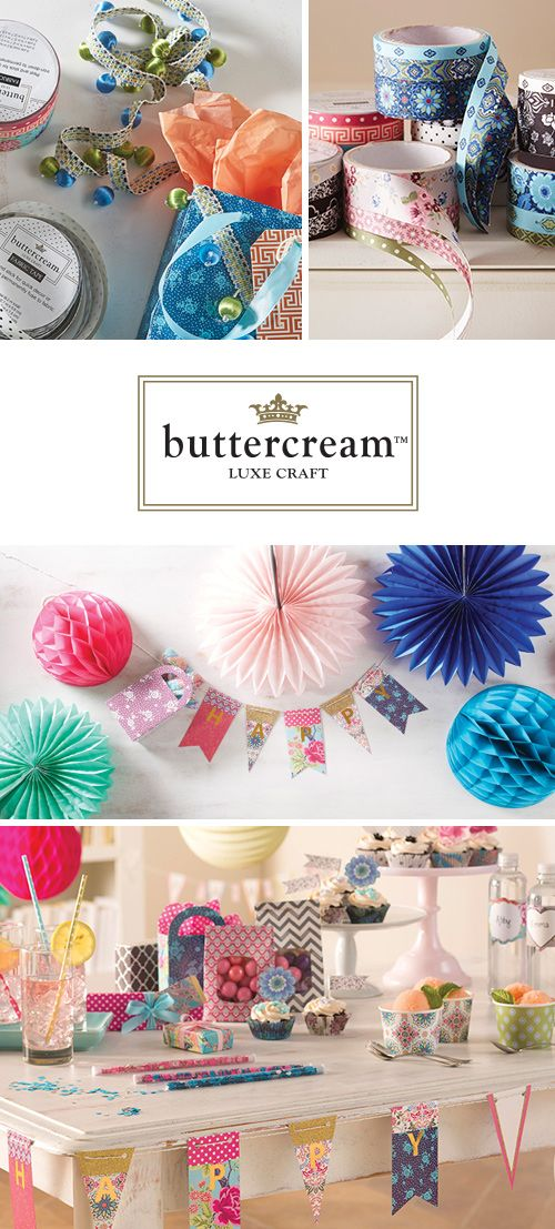 Buttercream is a lush and lovely collection of continental craft components, finished home decor items , baking supplies and unique print fabrics only available at Jo-Ann. Are you an Audrey, Olivia, Stella or Elizabeth?