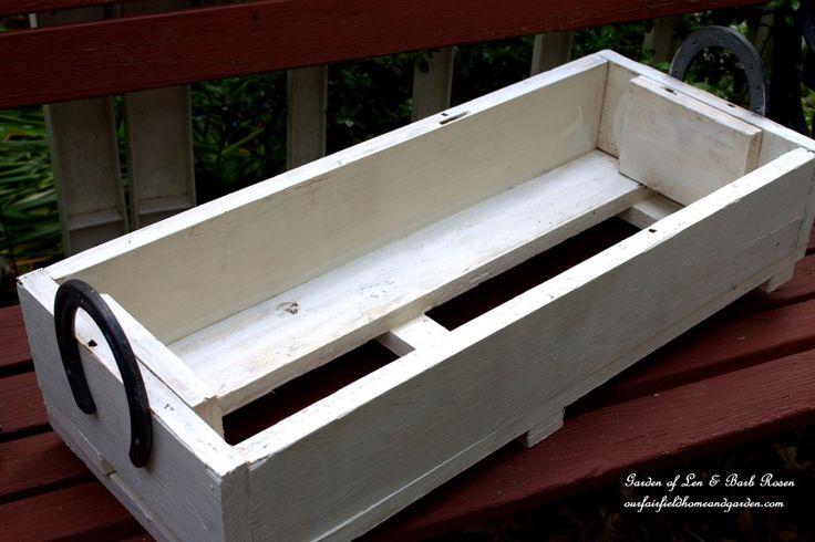 Horseshoe-Handled Herb Box made from repurposed wood