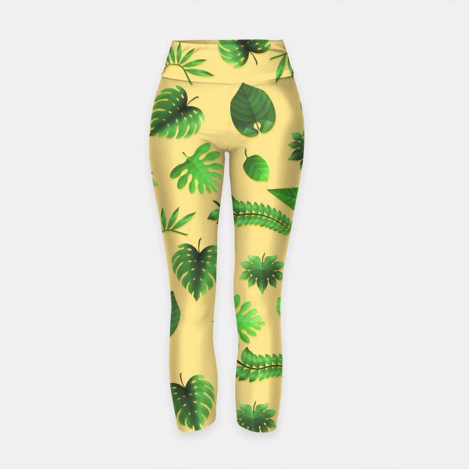 Tropical Leaves Yoga Pants, Live Heroes