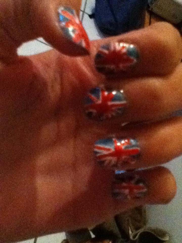 mijn nagels Engelse vlag