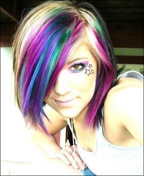 Colorful Hair...If I ever dare to...: Hair Ideas, Crazy Hair, Rainbows Hair, Hairstyles, Hair Colors, Haircolor, Beautiful, Hair Style, Colors Hair