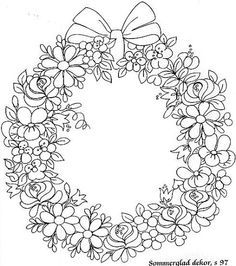 rose garland coloring pages - photo#22