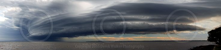 A collapsing super cell moving over Redcliffe Peninsula out into Moreton Bay in Queensland, Australia.  For image licensing enquiries, please feel welcome to contact me at derekwalker73@bigpond.com  Cheers :)