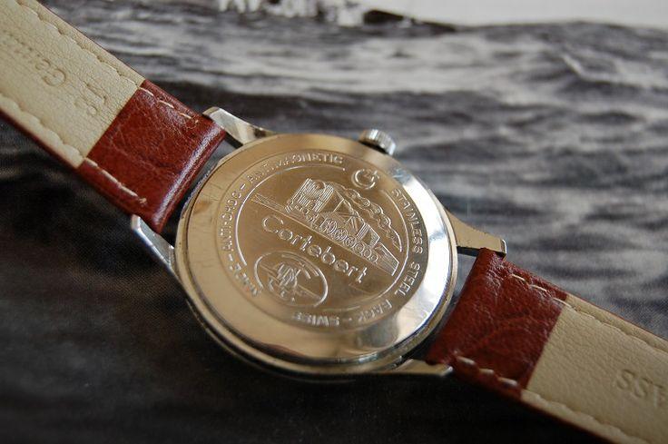 Cortebert Cal 739 Turkish rail road wristwatch 1950s