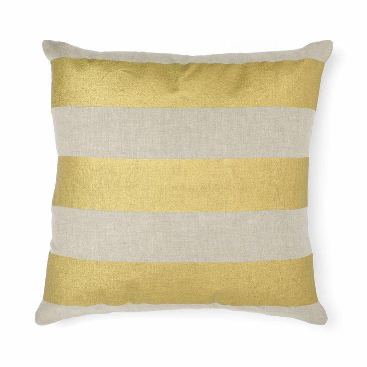 AURA Home, Winter 2014, Wide Stripe Cushion in Gold