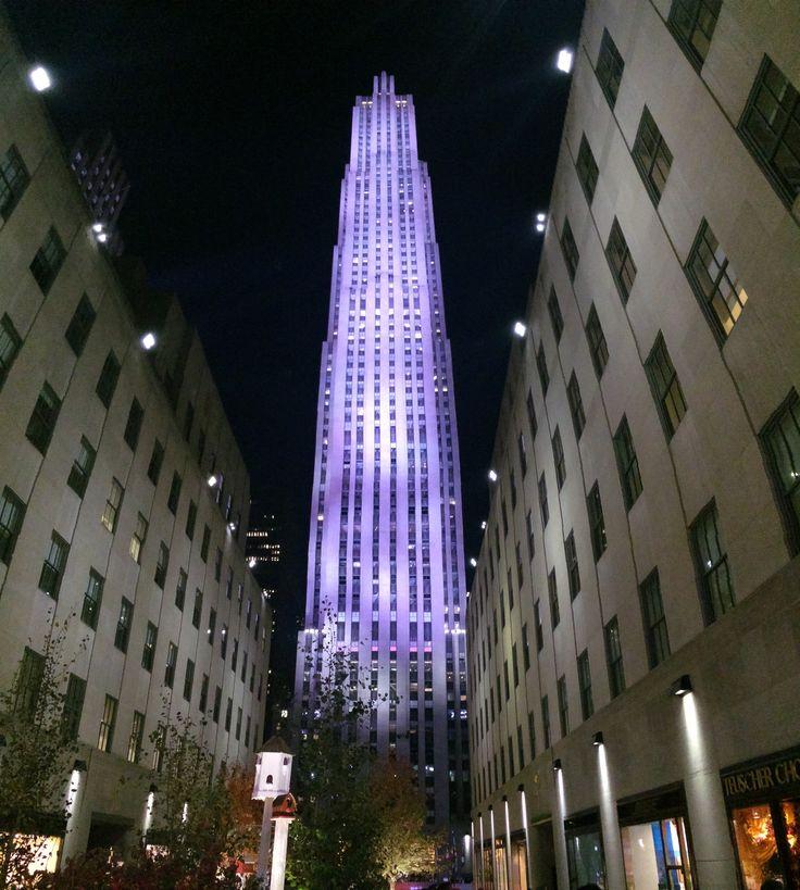 Rockefeller Center by night New York City © Sarah Murphy