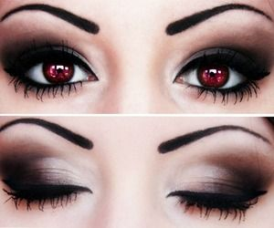Twilight's Bella-style contacts and makeup. Love this.                                                                                                                                                                                 More