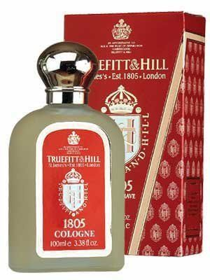 Truefitt & Hill 1805 Cologne by Truefitt & Hill. $75.00. 3.38 oz spray. Please read all label information on delivery.. Country of origin: England. 1805 is a fresh, oceanic fragrance that is the signature scent of the Truefitt & Hill collection.  Top notes of bergamot, mandarin and cardamom combined with a lavender geranium and clary sage heart, resting on a sandalwood and cedar wood base.  The very best of wood, spice and citrus blended in this fragrance.