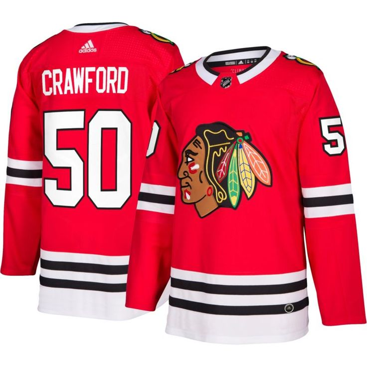 adidas Men's Chicago Blackhawks Corey Crawford #50 Authentic Pro Home Jersey, Size: 50, Team