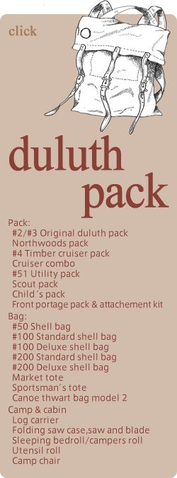 duluth pack Pack: #2/#3 Original duluth pack Northwoods pack #4 Timber cruiser…