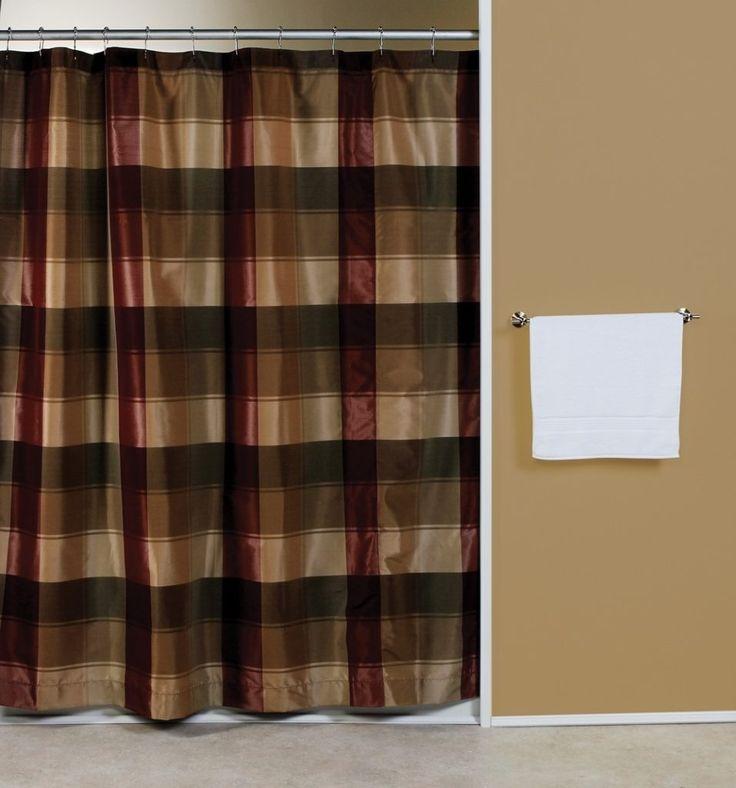 Blue Plaid Shower Curtain