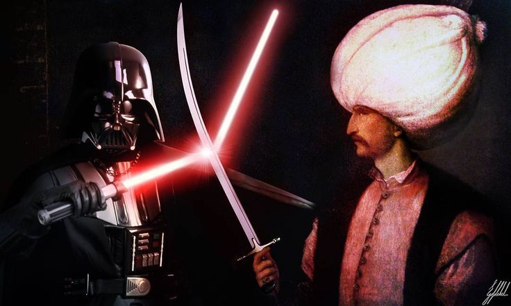 #starwars #ottoman #darthvader #art #artwork #photomanipulation   What If Ottomans were from the Star Wars Universe?  Francis I and Suleiman I the Magnificent initiated the Franco-Ottoman alliance. Both were separately painted by Titian circa 1530.