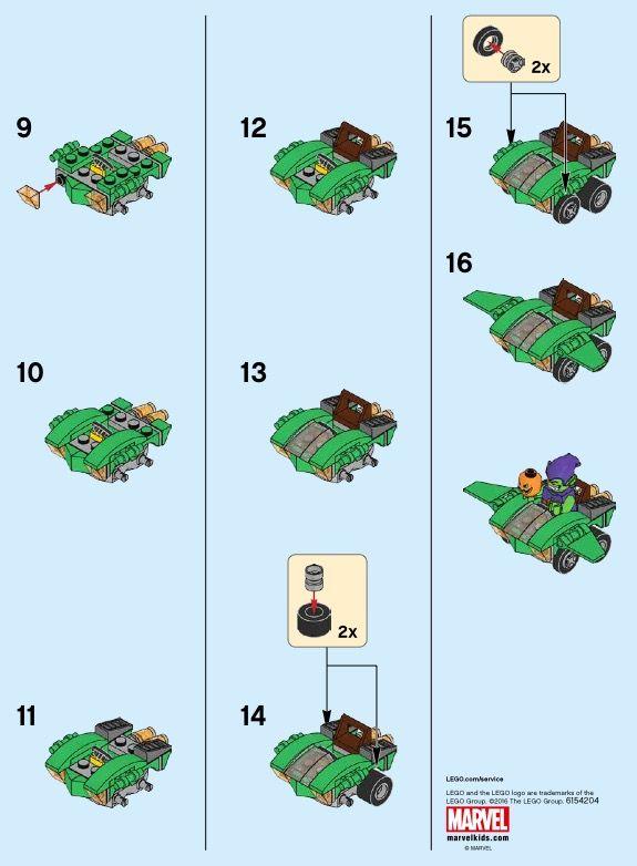 LEGO Mighty Micros: Spider-Man vs. Green Goblin Instructions 76064, Marvel Super Heroes