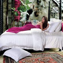 ICD50303 Шелковое постельное белье набор 19 momme белый шелк 100% четыре пьесы цвет можно подгонять размер король…
