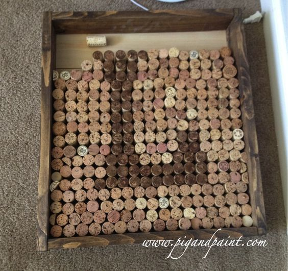 Pig and Paint: Wine Cork Monogram - the project that never ends  I am going to do this!