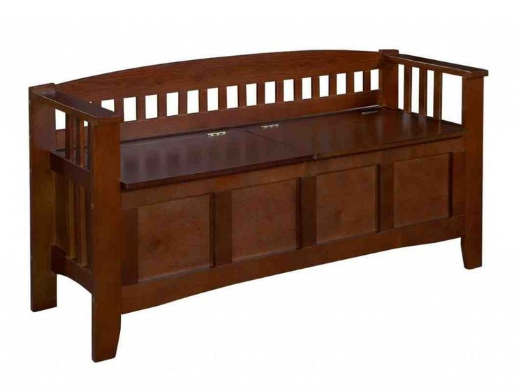 Wooden Bench Seat With Storage