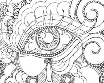 adult coloring page etsy ca - Watercolor Pages