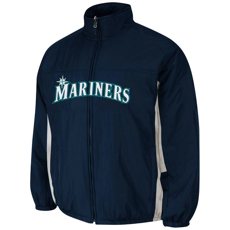 Majestic Seattle Mariners Youth AC Double Climate Full Zip Jacket - Navy Blue - $42.74
