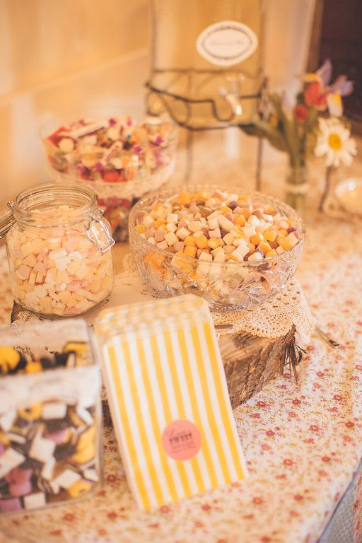Wedding pick and mix sweets / candy.