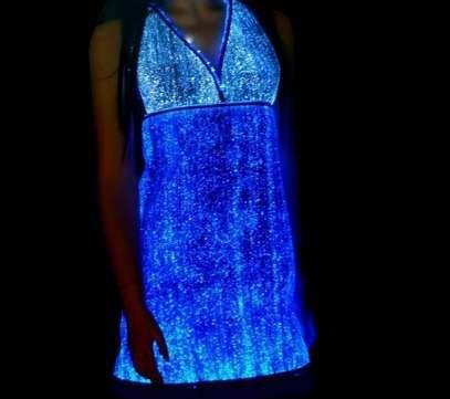 LumiGram's Luminous Dress is Made with Fiber Optic Fabrics trendhunter.com