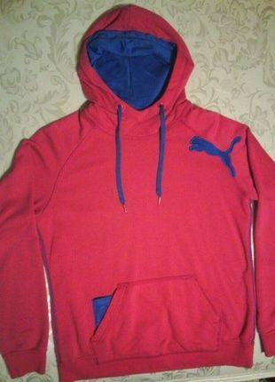 Buy my PUMA item on #vinted http://www.vinted.com/womens-clothing/hoodies/14085985-pink-blue-athletic-puma-hoodie