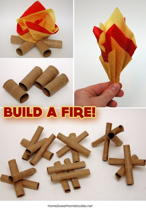 Indoor Camping Campfire Crafts For KidsCrafts