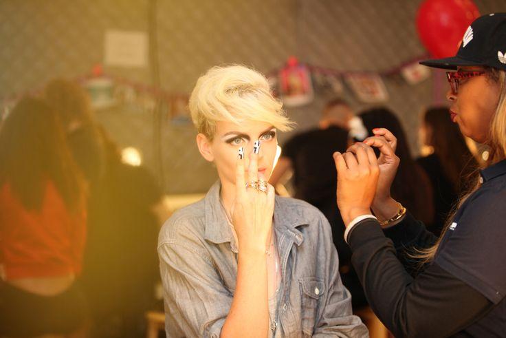 Kelly Thompson for Betsey Johnson Spring 2016 RTW using Kryolan Professional Make-up #kryolan #makeupisascience