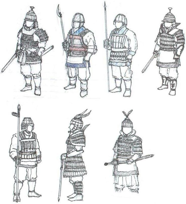 다양한 백제 군사들-various Baekje soldiers