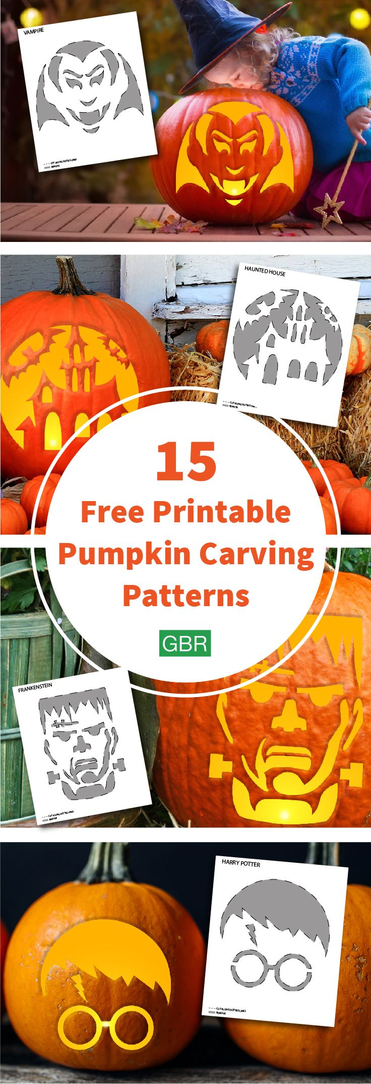 Be sure to save these free templates, so you're ready for pumpkin carving season!