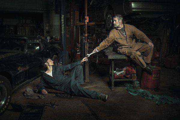 自動車整備工が再現した有名絵画の出来栄えが想像のナナメ上いっててめっちゃ笑える - Togetterまとめ